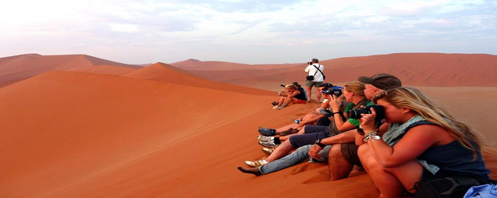 Desert Sossusvlei Sand Dunes