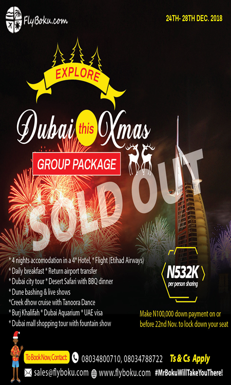 Dubai xmas sold out