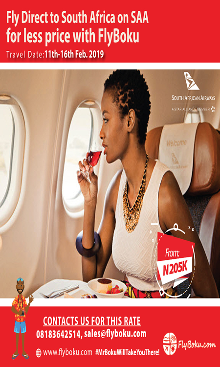 Fly direct to South Africa