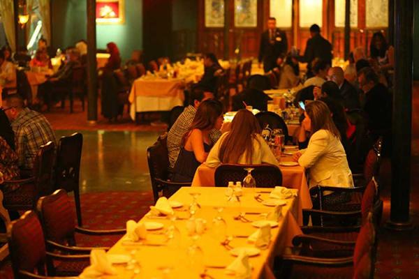 Nile cruise dinner