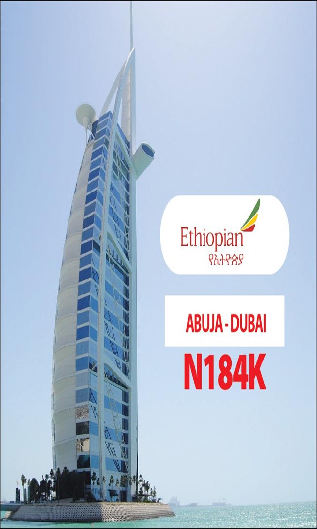 Ethiopian Abuja to Dubai