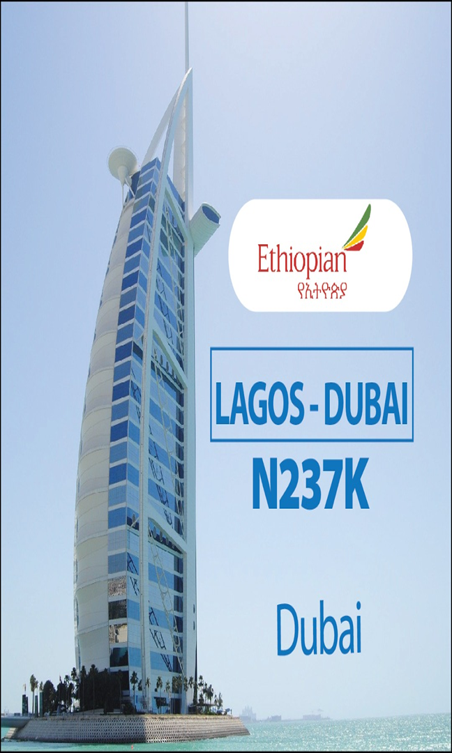 Ethiopian Lagos to Dubai