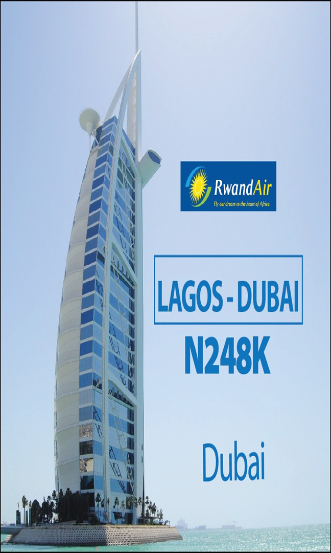 Rwand air Lagos to Dubai
